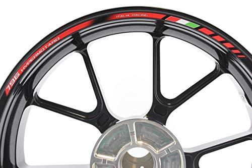 IMPRESSIATA Liserets de Jantes SpecialGP Moto Ducati Hypermotard 796 Rouge Autocollants
