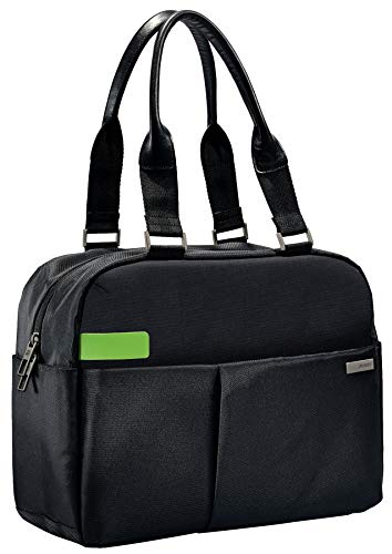 Leitz, Business Laptop-Schultertasche für 13.3 Zoll Laptop oder Ultrabook, Smart Traveller, Complete, Schwarz, 60180095