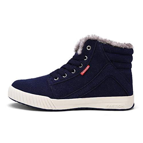 Qianliuk Männer Schnee Stiefel Mode Winter warm halten Stiefel plüsch Stiefelette Schnee Arbeitsschuhe Casual Stiefel