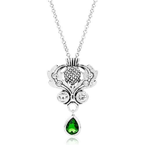 X HalsketteElegante Halsreif Halskette Celtics Knoten Libelle Schottische Distel Blume Anhänger Halsketten Damenmode Schmuck Geschenk