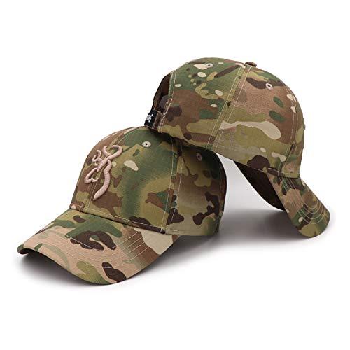 QOHNK Browning en Plein Air Chapeau Chapeau Casquette De Baseball Hommes Casquette De Pêche Jungle Chasse Camouflage Chapeau Airsoft Tactique Randonnée Chapeaux