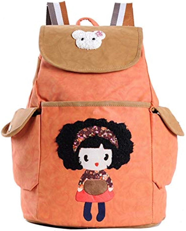 GGSDDU Leinwand Rucksack Flip Freizeit Schultaschen Für Teenager Mdchen Rucksack Schultaschen Umhngetasche