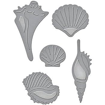 Impression Obsession MINI SHELL SET Craft Die Set Thin DIE176-E Seashells Sea