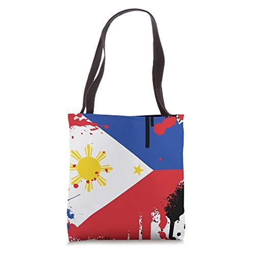 Proud Filipino Gifts | Paintsplash Retro Philippines Flag Tote Bag