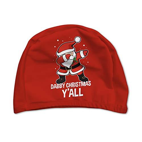 XREE Adult Sport Swim Cap Swimming Cap, Super Resilient, Breathable, Suitable for Long or Short Hair - Dab Christmas Santa
