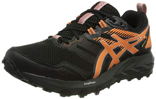 Asics Gel-Sonoma 6 G-TX, Trail Running Shoe Mujer, Black/Sun Peach, 39 EU