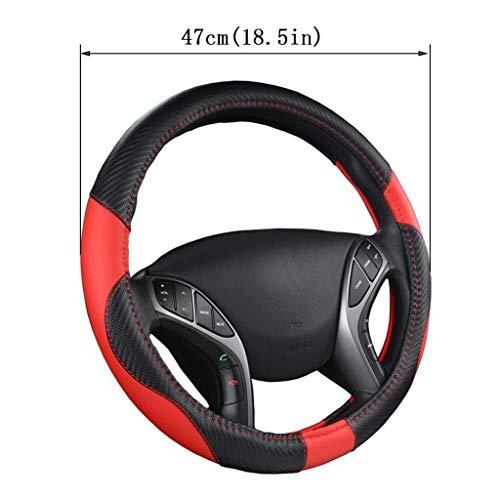 JXXDDQ Funda para volante de coche, de microfibra, antideslizante, accesorios para coche, SUV, Scania, R, P y S, autobús RV (color : 47 cm)