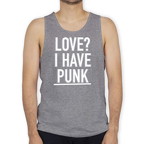 Shirtracer Festival - Love? I Have Punk - M - Grau meliert - Tank Top - BCTM072 - Tanktop Herren und Tank-Top Männer