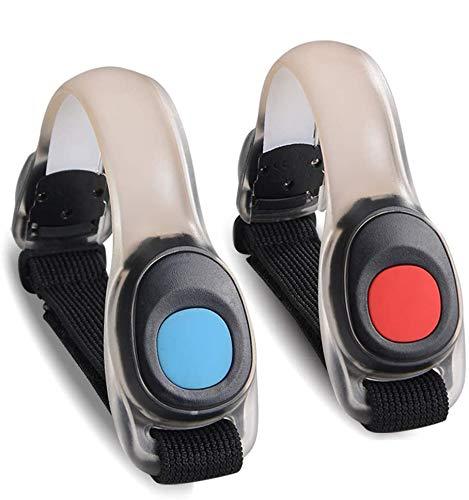 TBoonor - Pulsera LED de 2 Piezas para Adultos/niños, luz de Seguridad LED, Banda reflectora para Correr, montañismo, Correr, pasear con el Perro, Concierto y Deportes al Aire Libre
