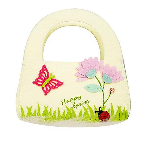 MSYOU Bolsa de almacenamiento sencilla de Pascua con diseño de mariposas, estilo portátil, para el hogar, dormitorio, viajes, bolsa de almacenamiento