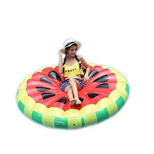ZBNMGHFT Sandía Inflable Fila Flotante Redonda Cara Sonriente Agua Adulto Anillo De Natación Sillón Suministros Para Fiestas Playa Cama Inflable 160 × 20cm