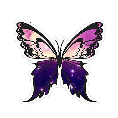 13 cm x 12,8 cm voor kleurrijke vlinders creatieve stickers auto vrachtwagen sticker aangepaste druk auto accessoires