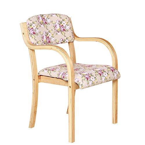 LJHA Tabouret pliable Chaise en bois massif Chaise d'ordinateur de loisirs de loisir Fauteuil arrière Chaise pliante 6 couleurs disponibles Taille en option chaise patchwork