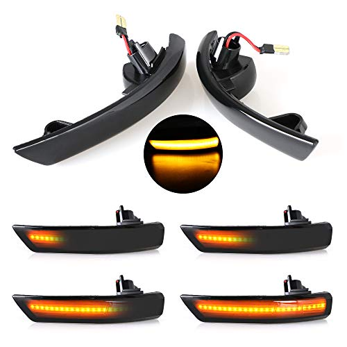 Juego de luces intermitentes, luces indicadoras de giro dinámicas, LED para espejo retrovisor lateral, luz intermitente para coche, 2 unidades