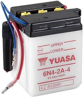 Batterie YUASA 6N4 2A 4 (DC) offen ohne Säure, 6V|4Ah (71x71x96mm) für Honda CY50 (int. D70mm) Baujahr 1979