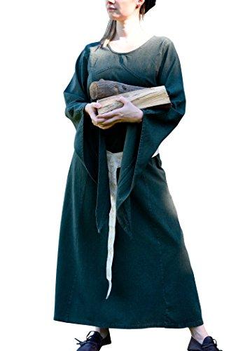 Vestido medieval - Neira, verde - de la Edad Media vestido - vestido medieval - vestido de Vikingo