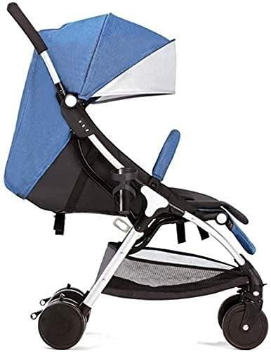 Cochecito de viaje de cochecito para bebés para niños pequeños para niños pequeños Portátil Portátil Portátil Cochecito de cochecito 4 Cochecito de ruedas Reclinación de una mano pliegue con amortigua