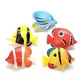 SYFO Juguete 1 unids niños baño Juguetes Acuario Artificial Pescado Falso Peces Tropicales floración movible Peces Tanque Acuario decoración (Color : Random Color)