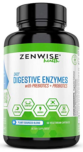 Digestive Enzymes Plus Prebiotics & Probiotics - Natural Lactase Support for Better Digestion &...