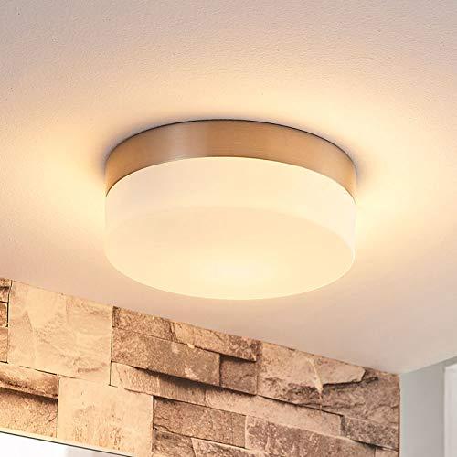 Lindby Deckenlampe 'Amilia' (spritzwassergeschützt) (Modern) in Weiß aus Metall u.a. für Badezimmer (1 flammig, E27, A++) - Bad Deckenleuchte, Lampe, Badezimmerleuchte