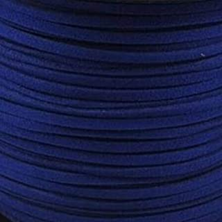 BeadsTreasure Midnight Blue Suede Cord Lace Leather Cord For Jewelry Making 3x1.5 mm-20 Feet.