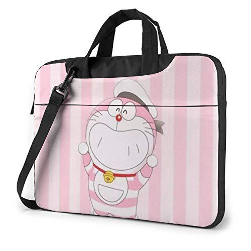 XCNGG Maletín para Ordenador portátil Rosa Doraemon, maletín de Negocios para Hombres y Mujeres, Bandolera de Hombro, Funda para portátil, Estuche de Transporte, 15,6 Pulgadas