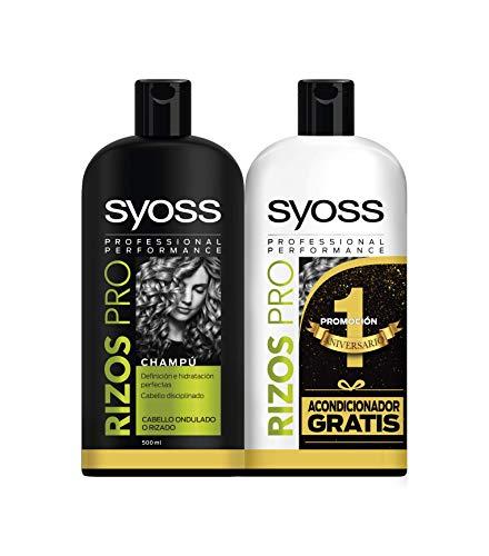 Syoss Champú + Acondicionador Rizos Pro, 500 ml +...