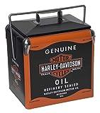 Harley-Davidson Oil Can Retro Metal Cooler - 13 Liter, Black & Orange HDX-98510