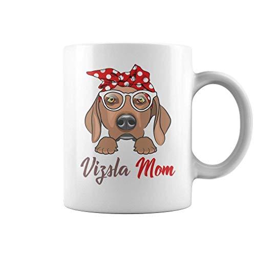 XCNGG Taza de café de la taza de la taza del cielo estrellado de la pendiente de la taza de cerámica Vizsla Mom Coffee Mug - 11oz Grade A Quality Ceramic White Ceramic Mug/Cup - Gift For Vizsla M