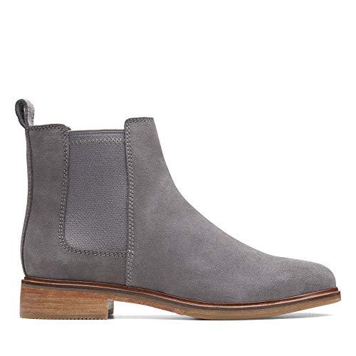 Clarks Damen Clarkdale Arlo Chelsea Boots, Grau (Grey Suede), 37.5 EU