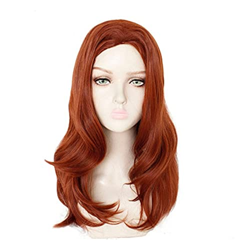Black Widow Dark Red Yellow Gradient Wig Mixed Color Synthetic Hair Halloween Carnival Party Costume Cosplay Wigs Adult Kuyb8565
