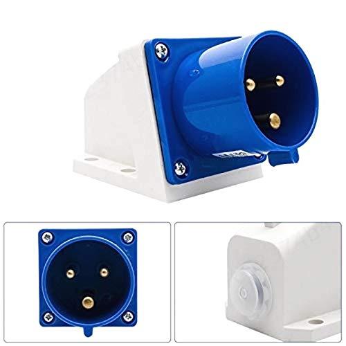 ALONGB Spina e Prese industriali IP44 3 Pin Spina per Sito Industriale (Blu) e Presa a Muro Presa Impermeabile IP44 Presa connettore 2P + Terra Maschio/Femmina