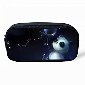 Beauty Collector Animal Panda Pencil Bags for Girls Kids Canvas Pen Case Zipper Soft Stationery Pouch Makeup Cosmetic Bag