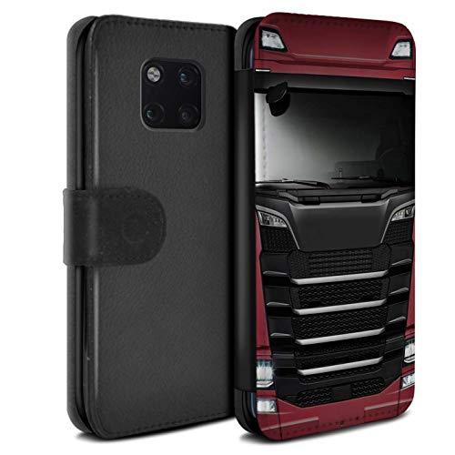 eSwish beschermhoes van PU-leer voor Huawei Mate 20 Pro/serie: LKW HGV cabine over euro - rood