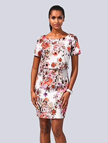 Alba Moda Damen Kleid Multicolor 38 Baumwolle
