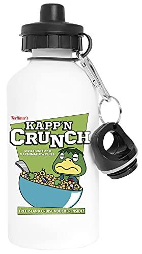 Kappn Crunch! Aluminio Blanco Botella de Agua Con Tapón de Rosca Aluminium White Water Bottle With Screw Cap