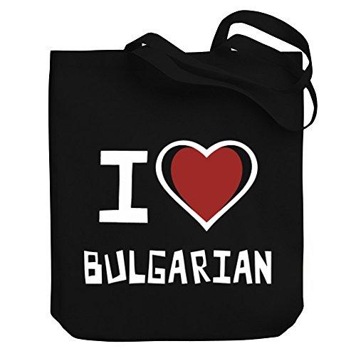 Teeburon I Love Bulgarian Bolsa de Lona