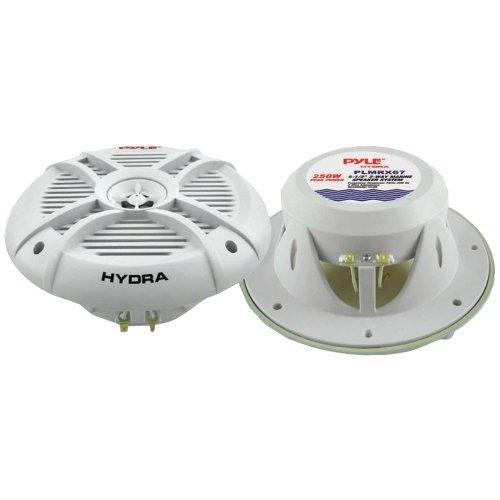 PYLE PLMRX67 paar 2-weg witte luidsprekers 500 watt max 16,5 cm 6,5