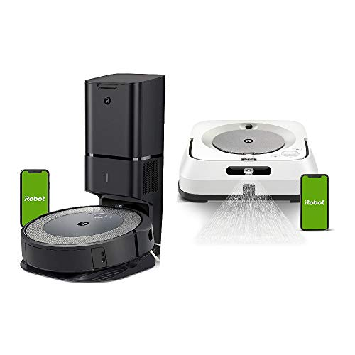 iRobot Roomba i3+ (3550) Wi-Fi Connected Robot Vacuum with Dirt Disposal and Braava Jet m6 Robot Mop Bundle (2 Items)