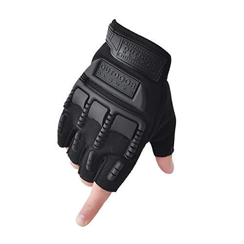 Guantes sin Dedos, Mitones de Camuflaje para Fitness, Motocicleta Antideslizante para Hombre, Guantes de Medio Dedo para Mujer y Hombre-A15-M