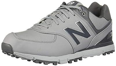 New Balance Men's 574 SL Waterproof Spikeless Comfort Golf Shoe, Grey/Silver, 7 M US