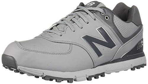 New Balance Men's 574 SL Golf-Shoes, Grey/Silver, 16 4E 4E US