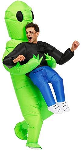Alien Kostüm Herren, Aufblasbares Kostüm für Erwachsene, Super Lustig, Geeignet für Partys, Shows