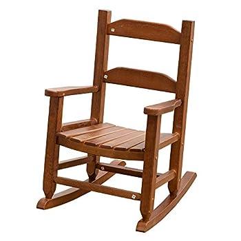 B&Z KD-21N Child s Rocking Chair Porch Rocker Indoor Outdoor Brown Ages 3-6
