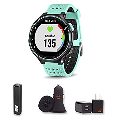 Garmin Forerunner 235 With PowerBank, USB Car Charger, USB Wall Charger, EZEE Bundle!