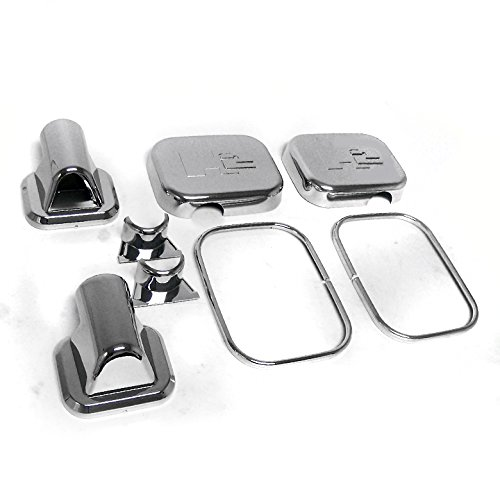 ZMAUTOPARTS Side Door Mirror Covers Trim Moulding Chrome 8Pcs Set For 2003-2005 Hummer H2