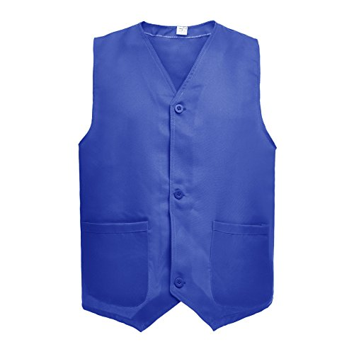 TOPTIE Supermarket Volunteer Uniform Vest/Security Services Workwear Vest-Blue-XXL