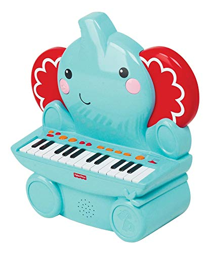 Fisher-Price Piano Elefante, Juguete Musical +2 años (Reig KFP2460), Color Azul (Kids Station Toys