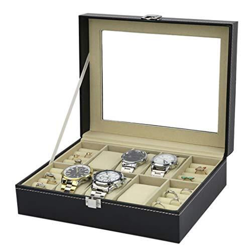 Yxx max Reise-Uhrenkoffer mit 6 Fächern für Uhren, Schmuckkollektion