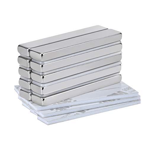 Jewan Stark Neodym Magnete, 60 x 10 x 5mm 10 Stück Seltenerdmagnete N52, Seltener Magnet, Rare Earth Magnets sehr starker Haftung